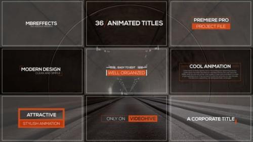 Videohive - Modern Titles & Lower Thirds - Mogrt