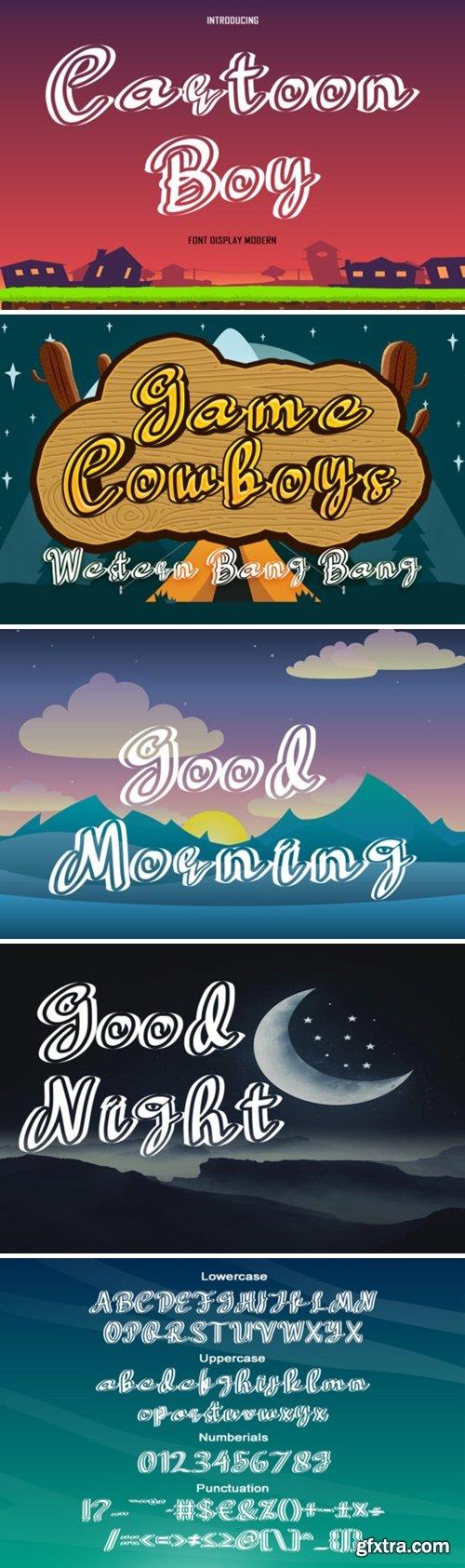 Cartoon Boy Font