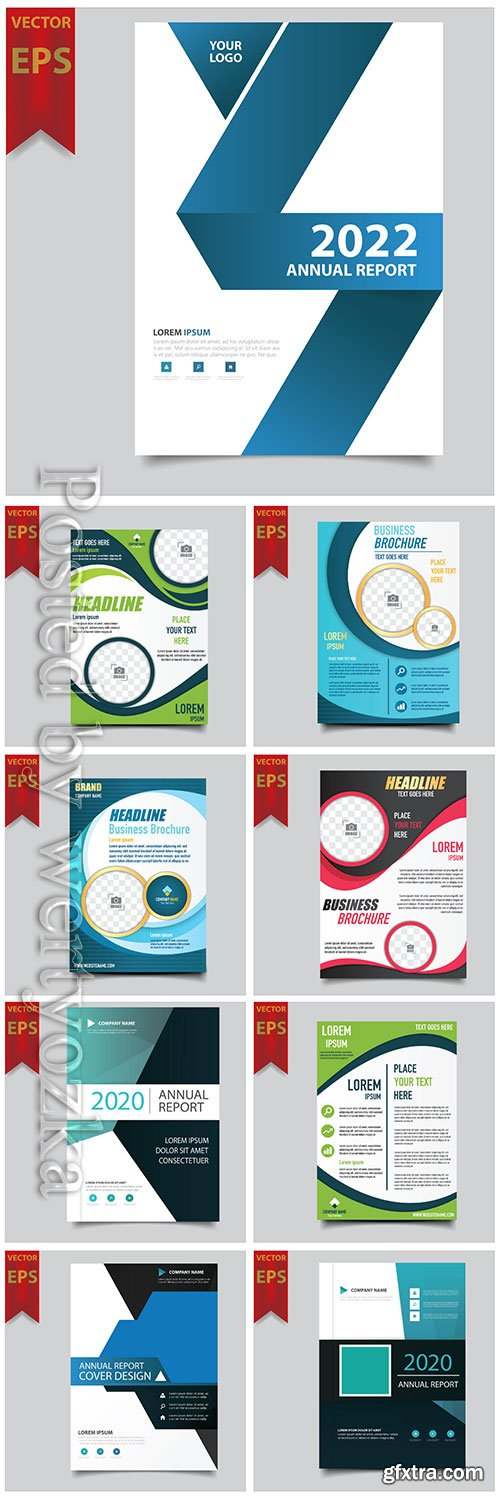 Business vector template for brochure, annual report, magazine # 8