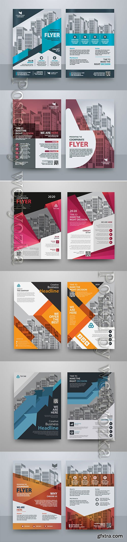 Business vector template for brochure, annual report, magazine # 14