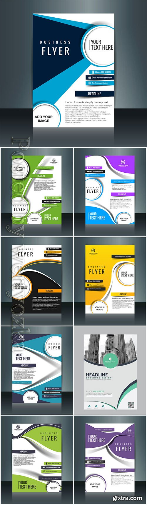 Business vector template for brochure, annual report, magazine # 6