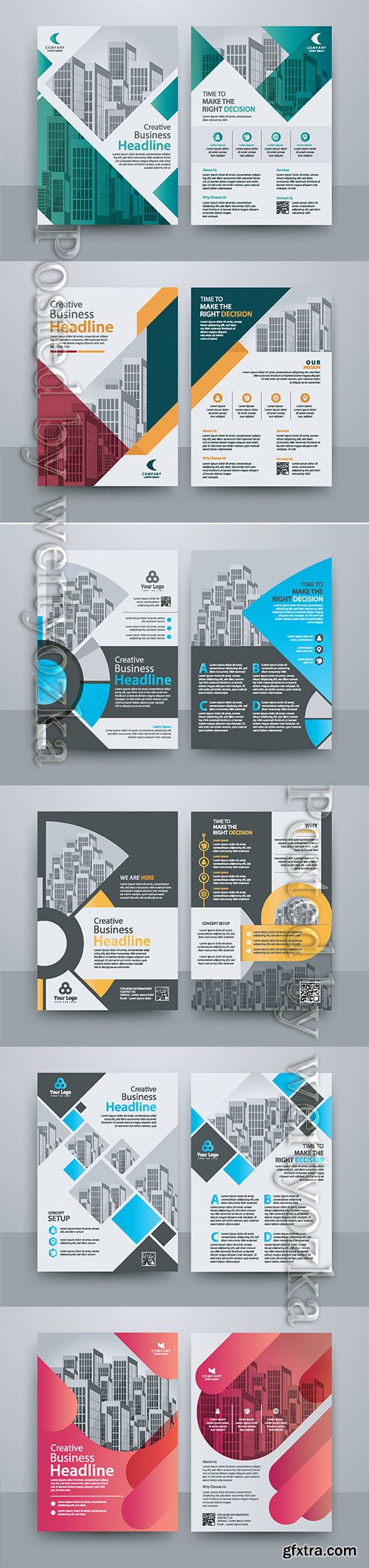 Business vector template for brochure, annual report, magazine # 10