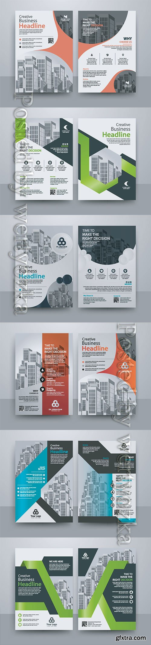 Business vector template for brochure, annual report, magazine # 9