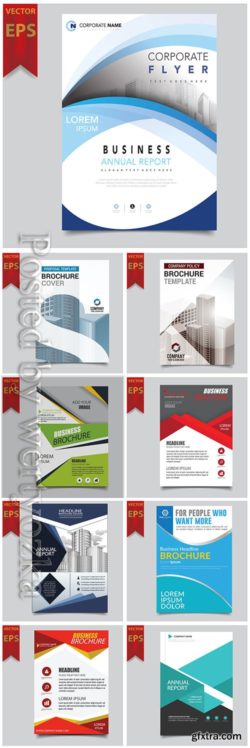 Business vector template for brochure, annual report, magazine # 7