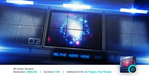 Videohive - 3D Action Screens