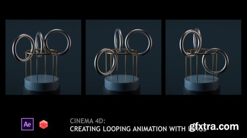 Cinema 4D: Creating looping animation with rings