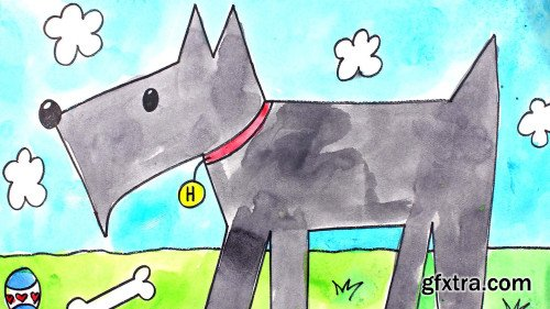Art for Kids: Drawing and Watercolor Painting a Scottie Dog Step-By-Step