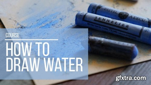 How to draw water with soft pastels