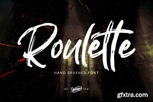 CM - Roulette Hand Brushed Font 4315541