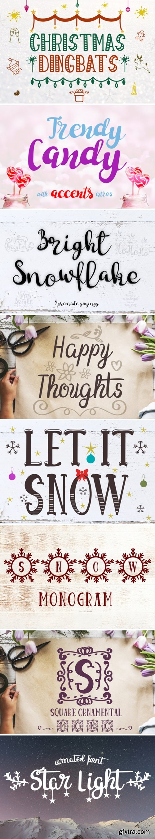 8 Cheerful Christmas Fonts Font