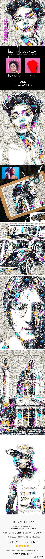 GraphicRiver - Collage Art Photoshop Action 24972417