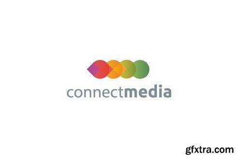 Connect media logo template