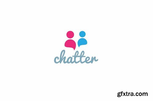 Chatter logo template