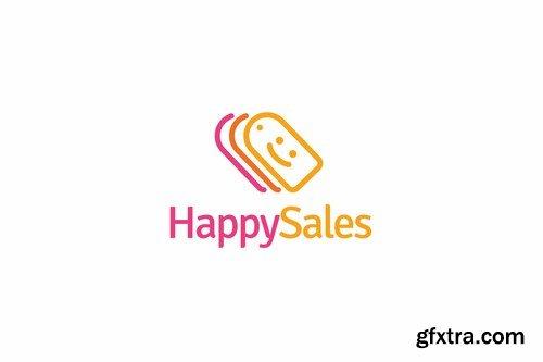 Happy sales logo template