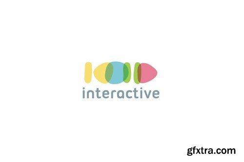 Interactive logo template
