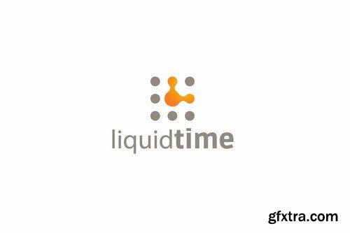 Liquid time logo template