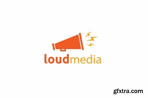 Loud media logo template
