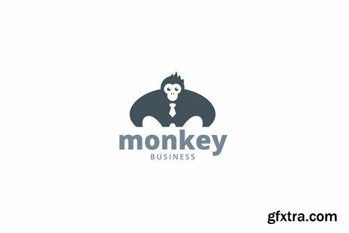 Monkey business logo template