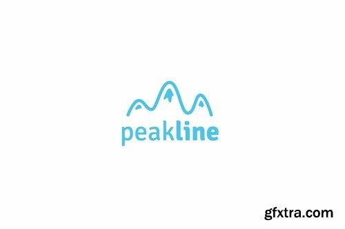 Peak line logo template
