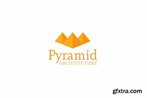 Pyramid architecture logo template