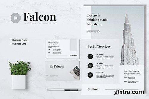 FALCON Creative Agency Flyer & Business Card