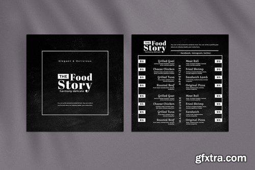 Blackboard Square Food Menu. 01