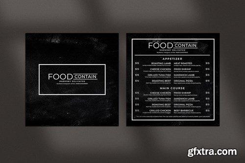 Blackboard Square Food Menu. 04