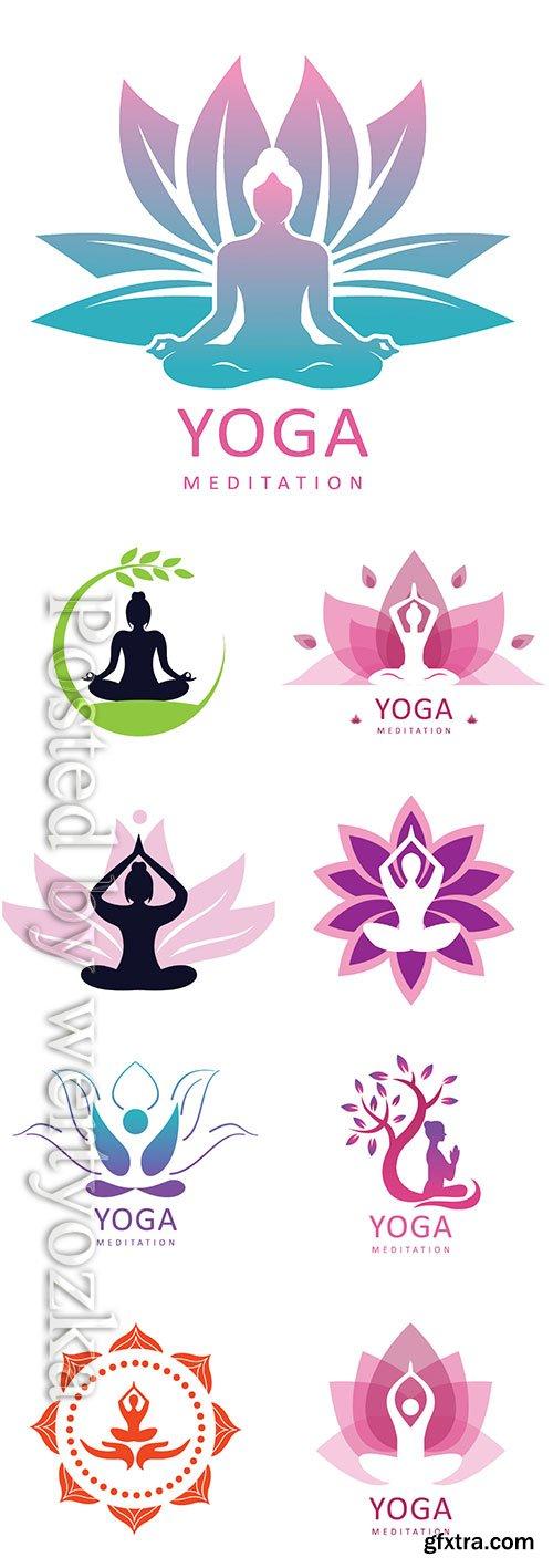 Yoga logo vector design