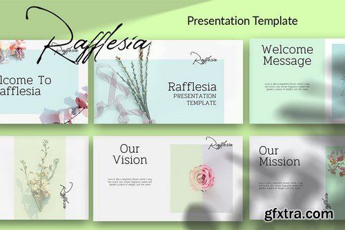 Rafflesia - Minimalist Powerpoint Google Slides and Keynote Templates