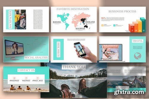 WETWET - Vocation Powerpoint Google Slides and Keynote Templates