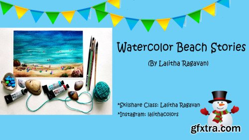 Watercolor Beach Stories