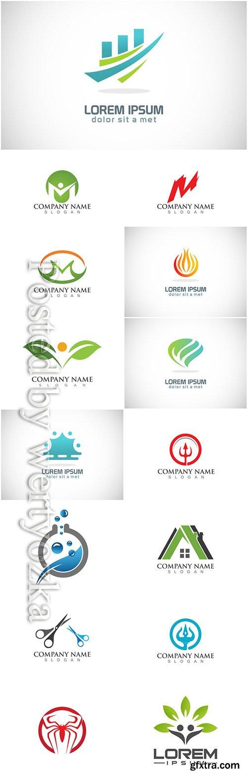 Logos set, business vector