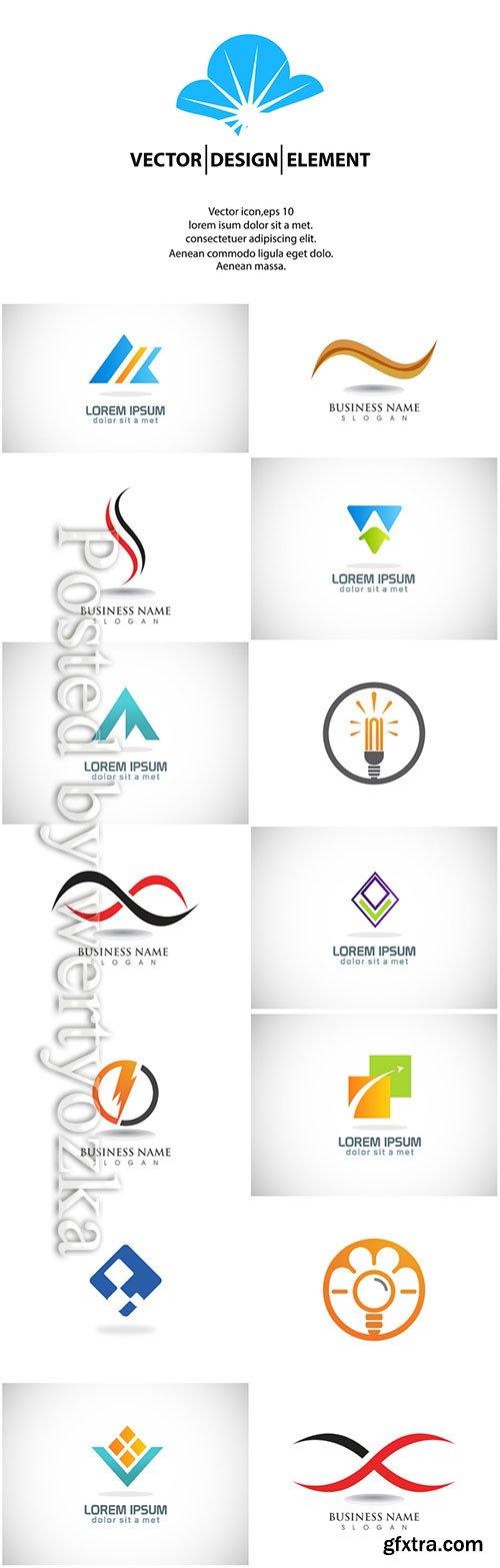 Logos set, business vector # 4
