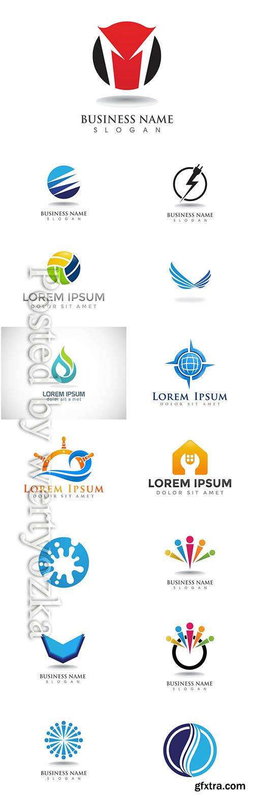 Logos set, business vector # 3