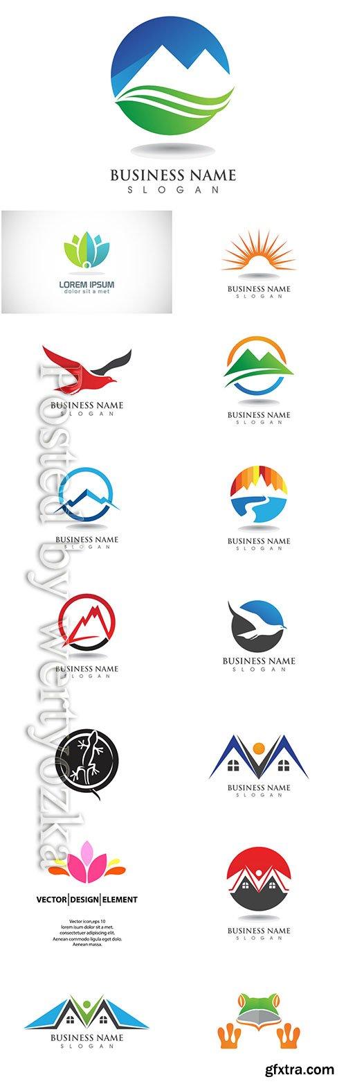 Logos set, business vector # 7