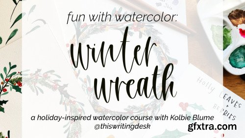 Fun With Watercolor: Winter Wreath