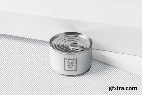 Small Food Tin Can Mockups