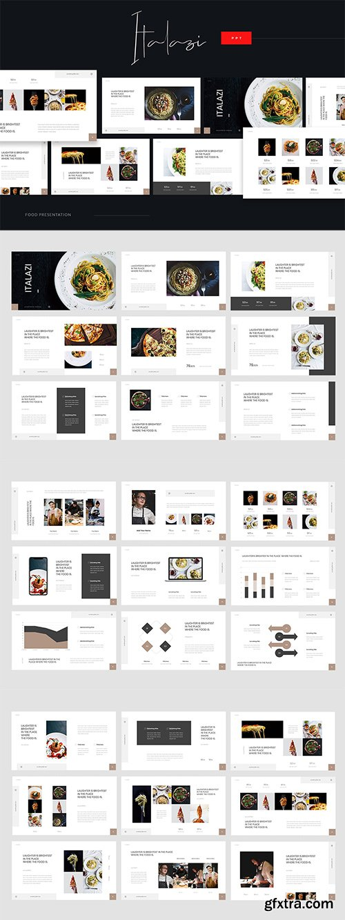 Italazi - Italian Food Powerpoint, Keynote and Google Slides Template