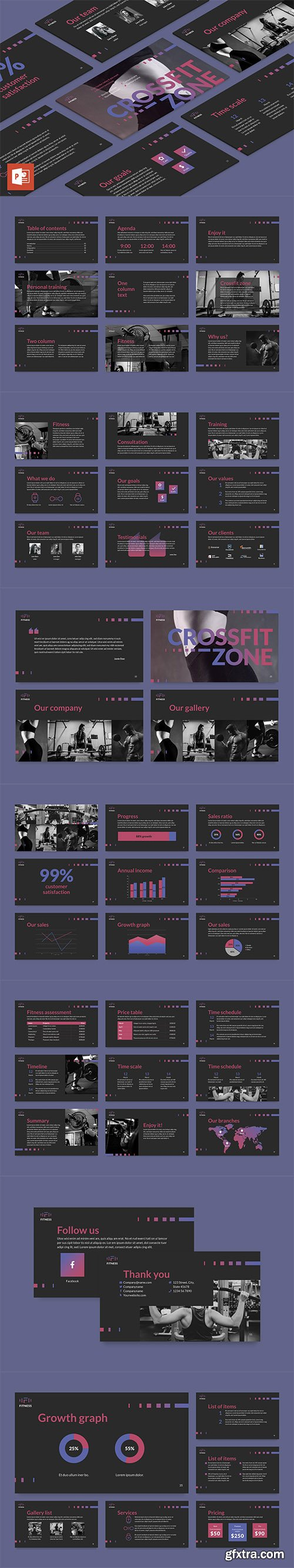 Fitness Studio PowerPoint Presentation Template