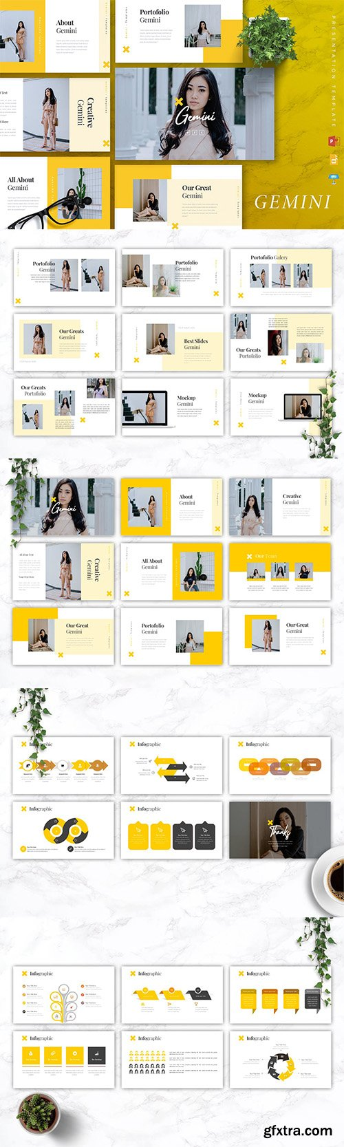 GEMINI Fashion Powerpoint/Google Slide/Keynote
