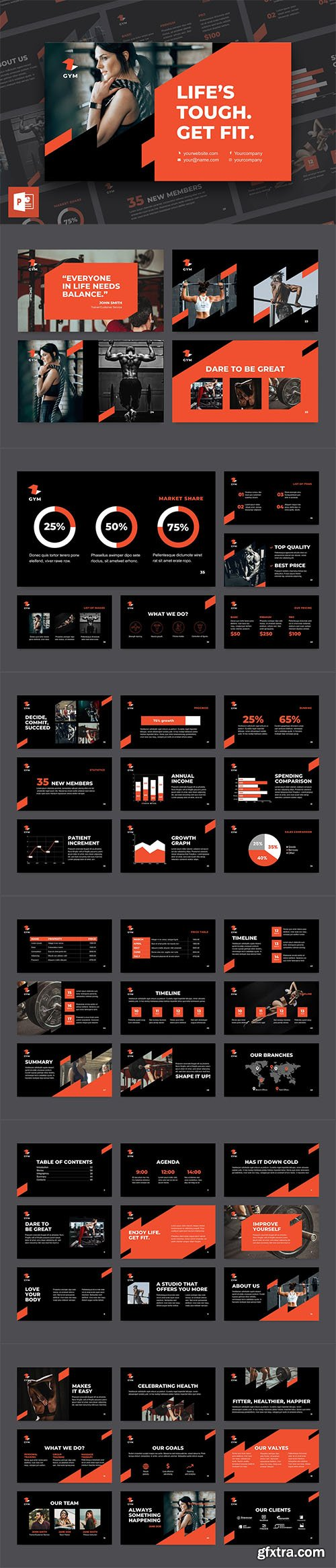 Gym PowerPoint Presentation Template