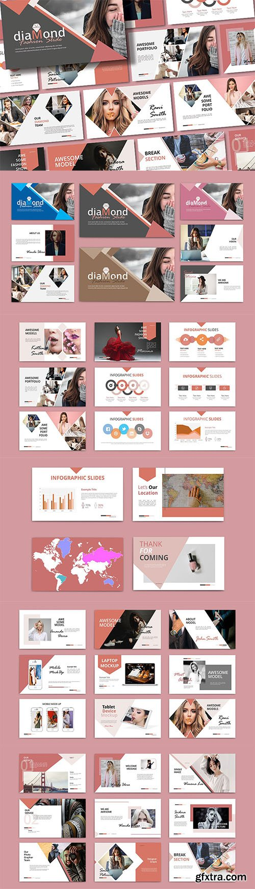 DIAMOND - Powerpoint, Keynote and Google Slides Template