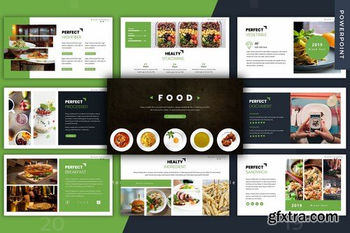 Food - Powerpoint Google Slides and Keynote Templates