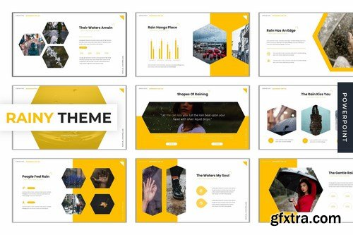Rainy Theme - Powerpoint Google Slides and Keynote Templates