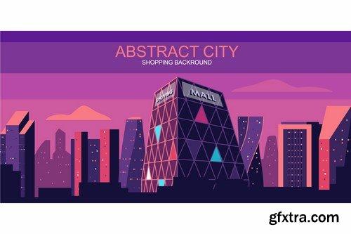 City Vector Illustration Header Website Pack