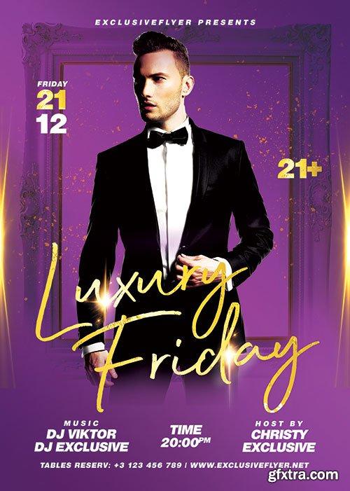 Luxury friday - Premium flyer psd template