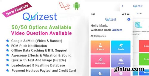 ThemeForest - Quizest v1.5 - Complete Quiz Solutions With Android App And Interactive Admin Panel - 23147394