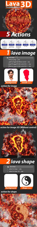 GraphicRiver - Lava 3D Photoshop Actions 24828845