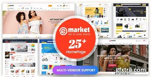 ThemeForest - eMarket v1.1.9 - Multi-purpose MarketPlace OpenCart 3 Theme (25+ Homepages & Mobile Layouts Included) - 20843842