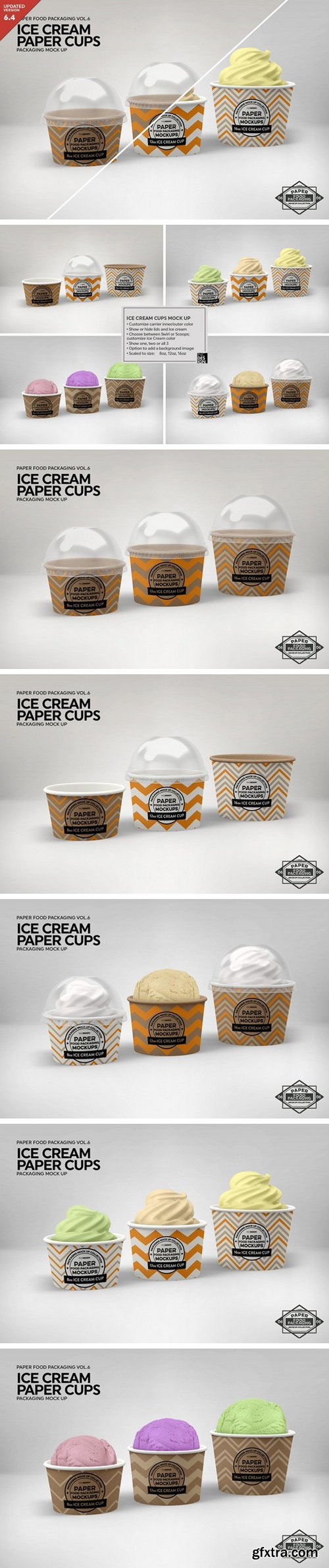 CM - Ice Cream Cups Mockup 2182874